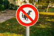 no dogs pie sign